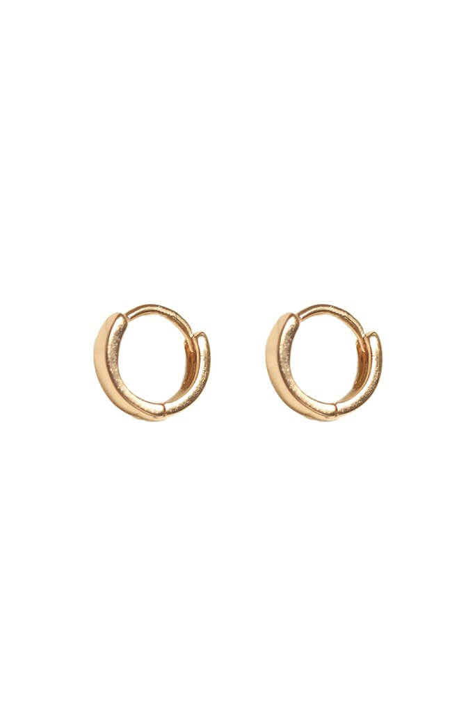Gold Ivy Huggie Hoops - S-kin Studio Jewelry | Minimal Jewellery That Lasts.