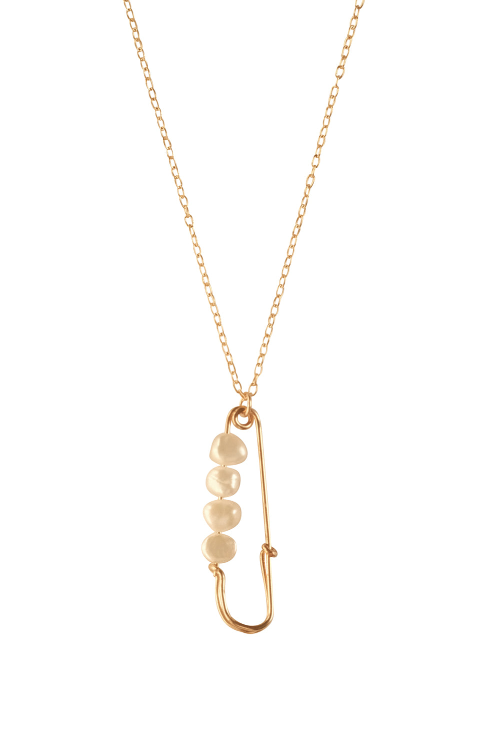 Safety Pin Pearl Necklace - S-kin Studio Jewelry | Minimal Jewellery That Lasts.