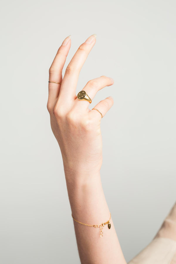 St'X Constellation Signet Ring (Gold Fill) - S-kin Studio Jewelry | Minimal Jewellery That Lasts.