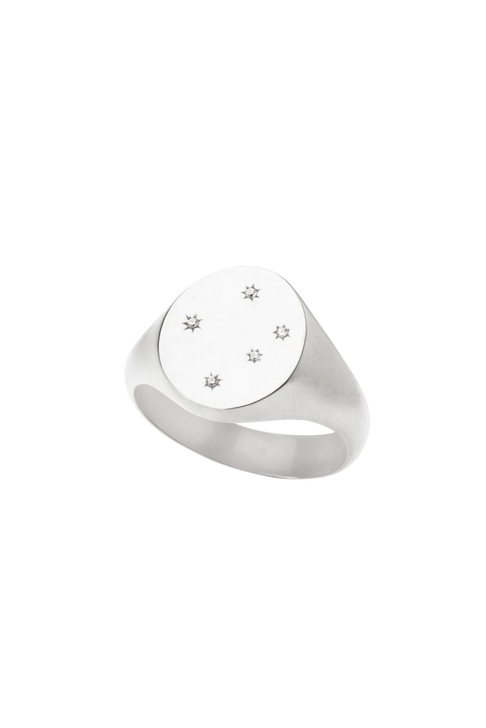 St'X Constellation Signet Ring (Sterling Silver) - S-kin Studio Jewelry | Minimal Jewellery That Lasts.