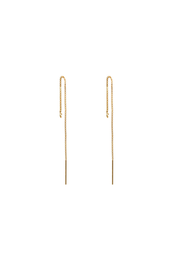 Mix & Match Chain Threader Earrings - S-kin Studio Jewelry | Minimal Jewellery That Lasts.