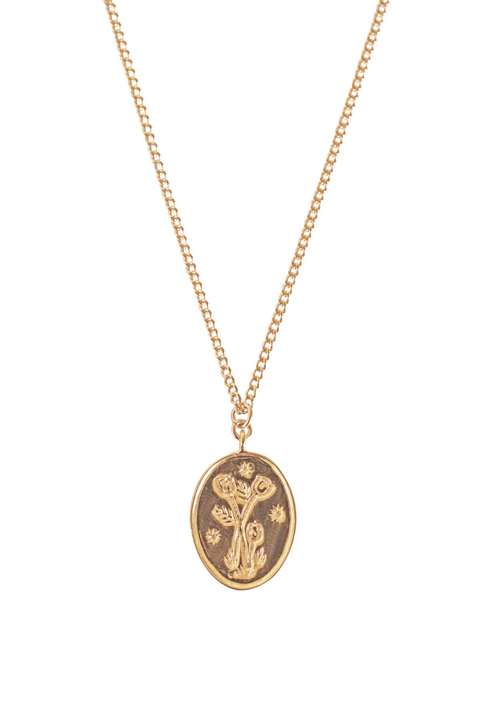 Wild Tulip Etched Necklace