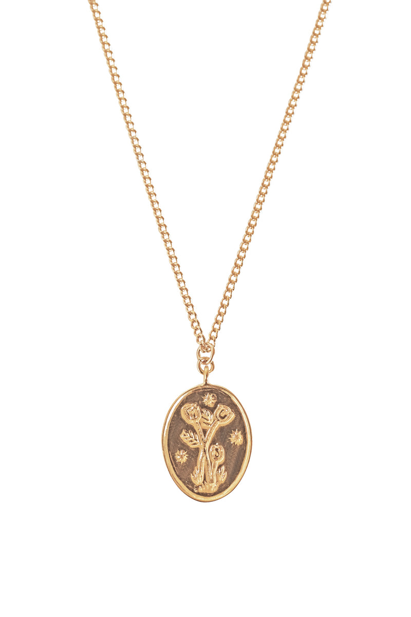 Wild Tulip Etched Necklace - S-kin Studio Jewelry | Minimal Jewellery That Lasts.