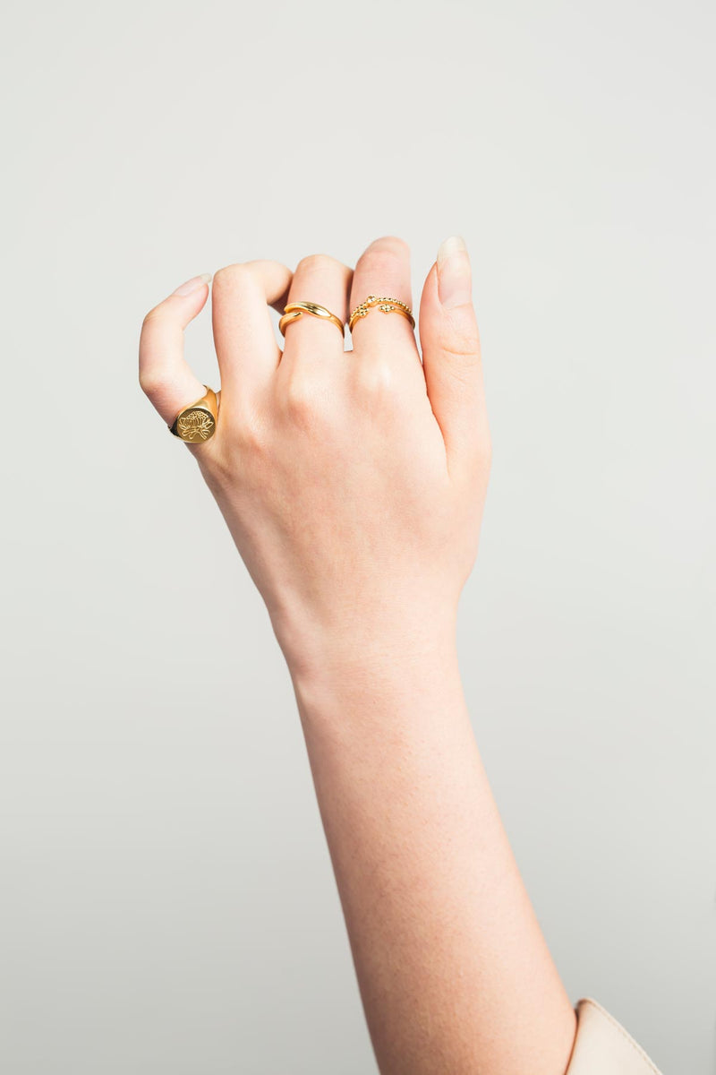 Waratah Signet Ring (Sterling Silver) - S-kin Studio Jewelry | Minimal Jewellery That Lasts.