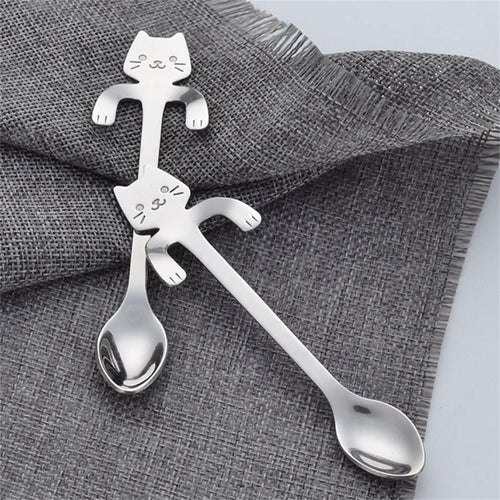 Kitty Cat Stainless Steel Spoon
