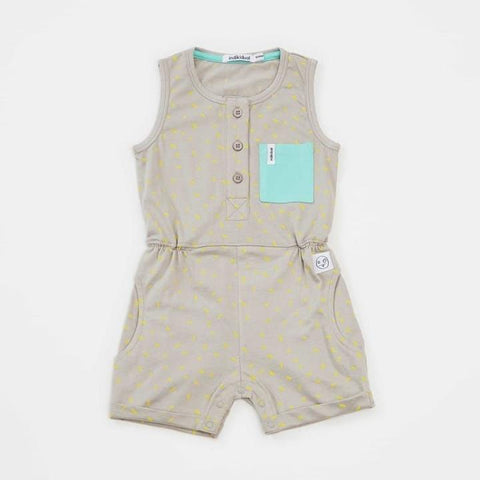 Jumpsuit corto color gris estampado arroz de indikidual