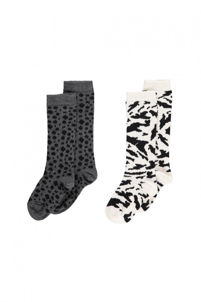 Popupshop - Calcetines (2 Pares) Animal Print Bebé