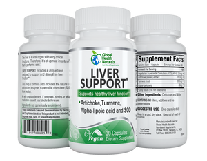 Liver Support label