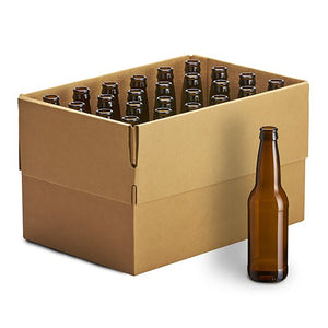 Beer Bottles, 355ml, Brown - Case/24