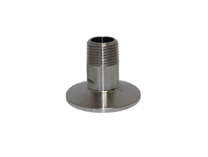 "Tri Clover Stainless steel, 1.5"" TC x 1/2"" male NPT thread, with gasket"