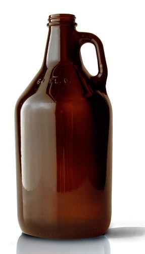 Amber Growler, 64oz, with lid