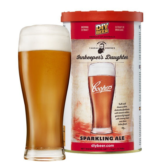 Coopers - Innkeeper's Daughter Sparling Ale, extract kit, t/m 5 gal