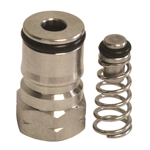Replacement ball lock keg post, with O-ring and poppet
