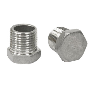 "Plug, stainless steel, 1/2"" NPT"