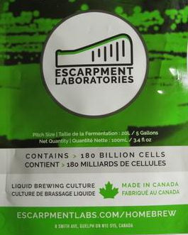 Escarpment Labs 2020 Cider Blend Kveik yeast, 125ml