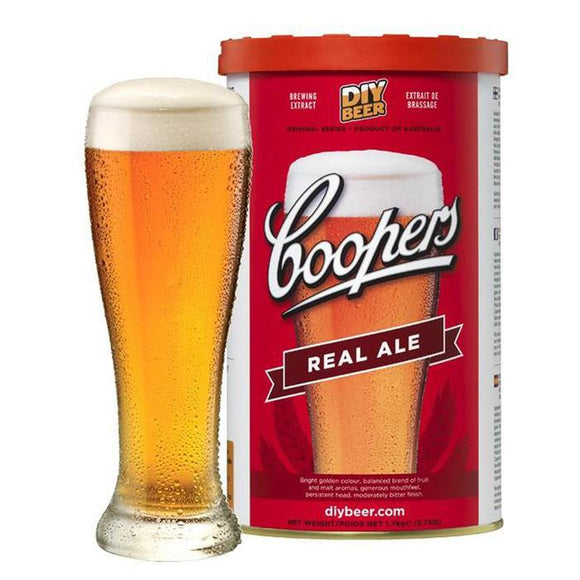 Coopers - Real Ale, extract kit, t/m 5 gal