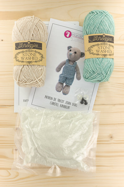 Kit tricot John l'ourson