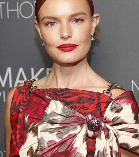Kate Bosworth Wears Our Pearl And Diamond Obtuse Earrings.