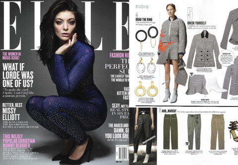 Shop Our Onyx & Gold Earrings As Seen In Elle Magazine