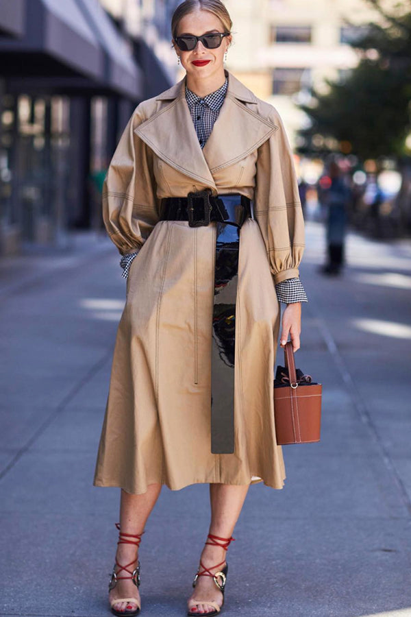 Chloe King, from Bergdorf Goodman Spotted wearing our Cognac Madeline Bag at New York Fashion Week.