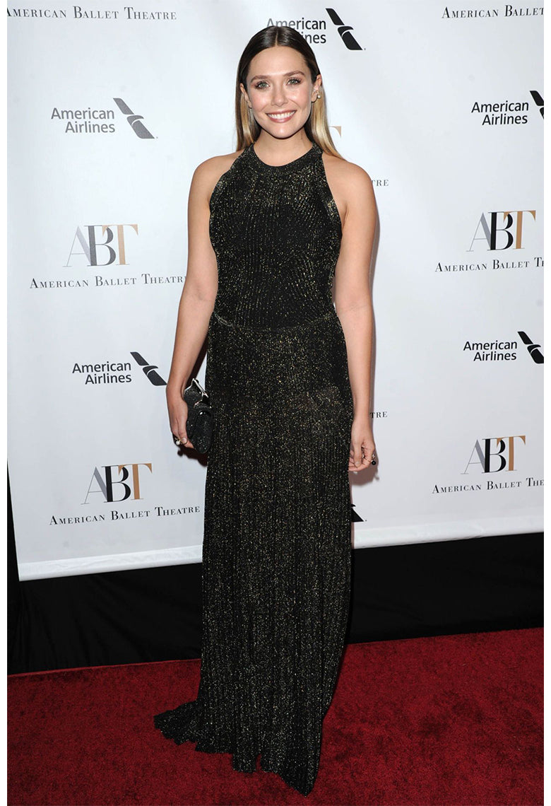 Elizabeth Olsen  Wearing our Pearl & Onyx Orbit Rings to the American Ballet Theatre Fall Gala 2016 in NYC.