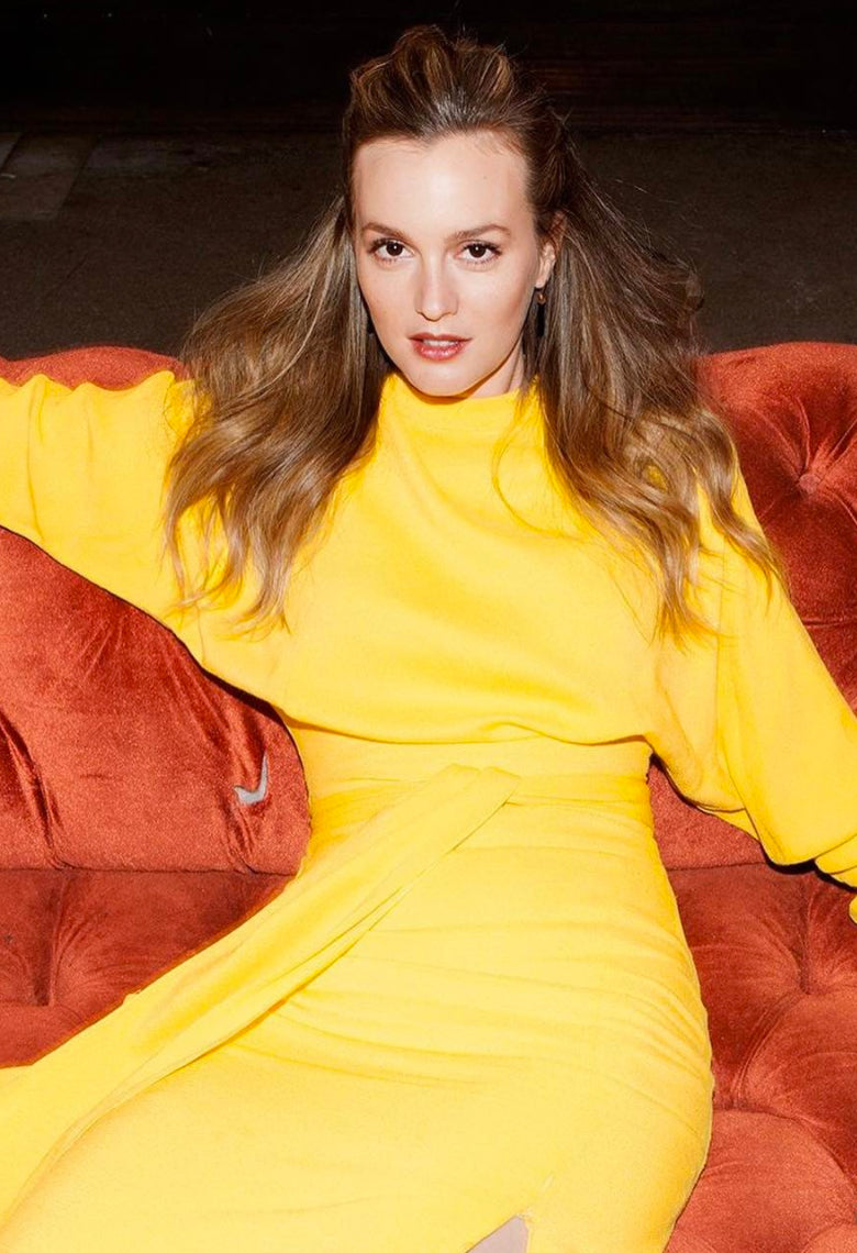 Leighton Meester Wearing our Onyx Bar Earring .