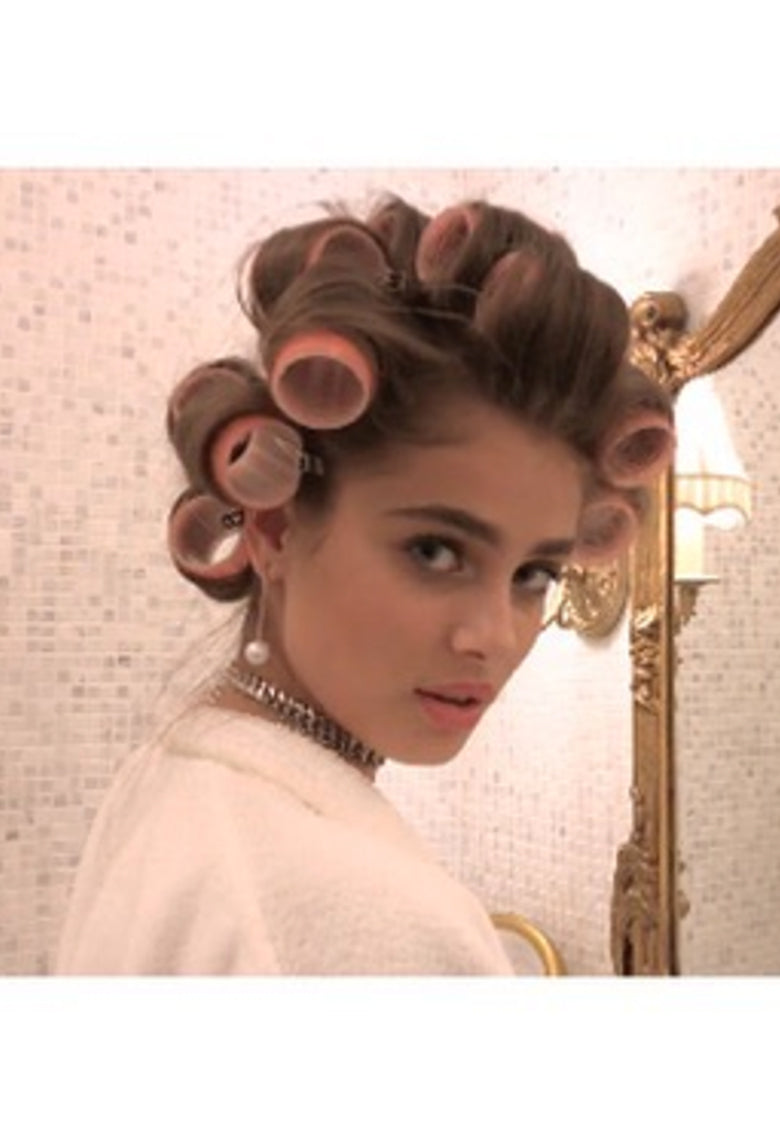 Taylor Hill , Model Wearing our Pearl Drop Earring s for American Vogue.