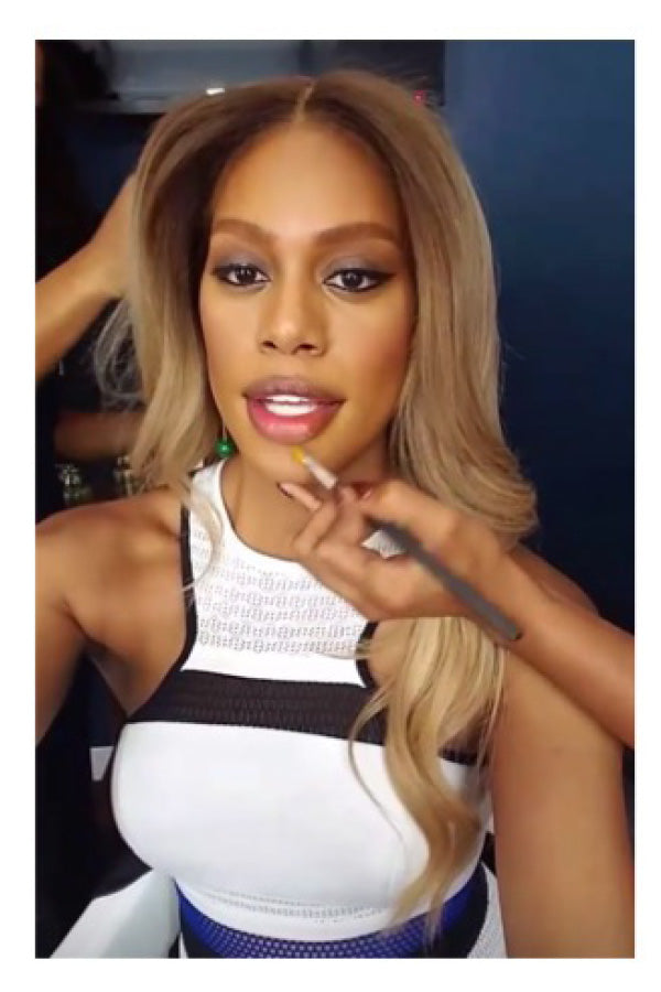 Laverne Cox , Actress Wearing our Malachite Ball Drop Earring .