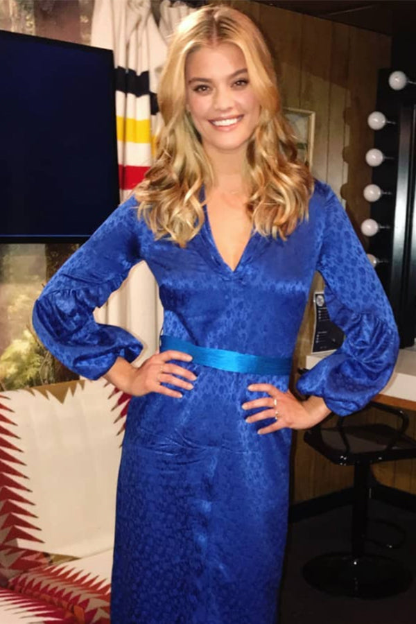 Nina Agdal , Model Wears our Mini Diamond Circle Necklace on the Today Show.