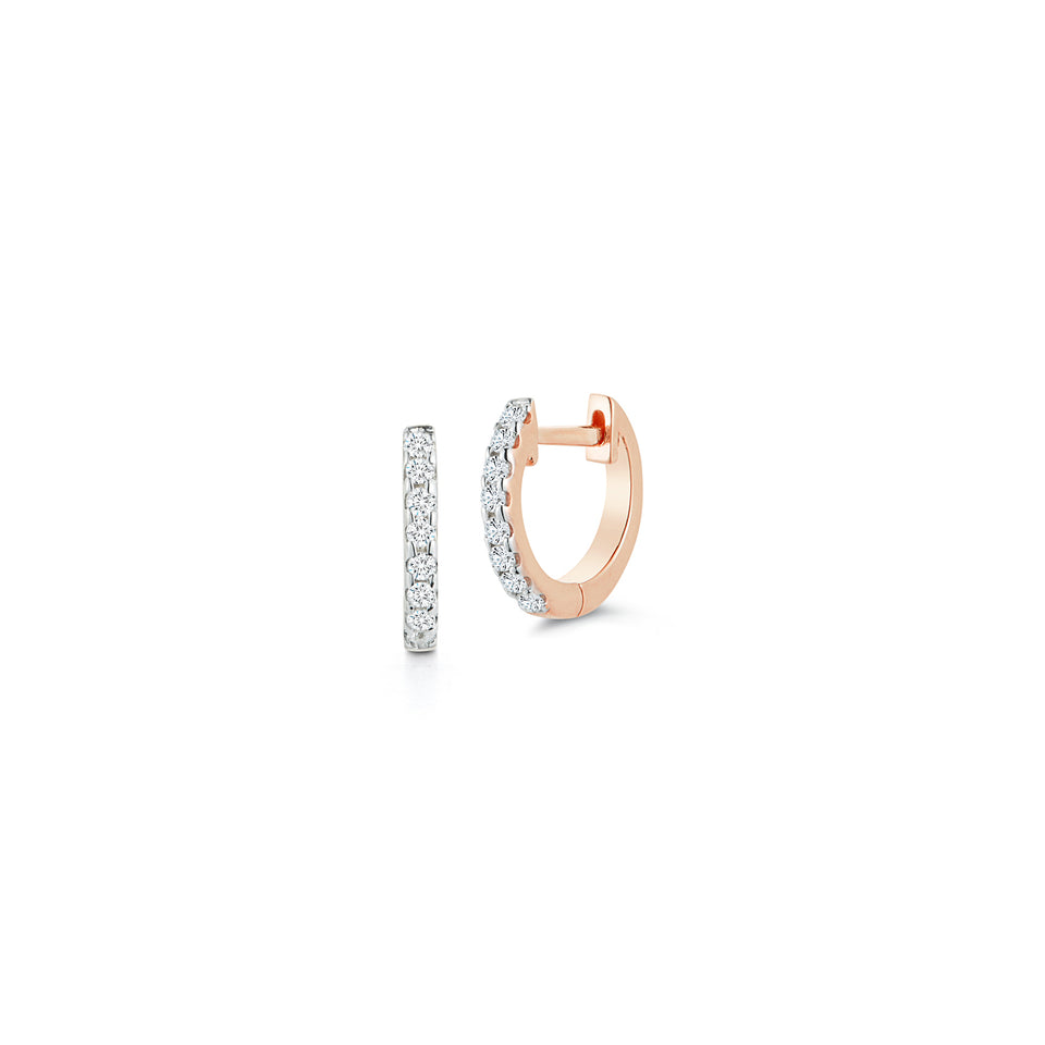 10mm Diamond Huggie - Rose Gold