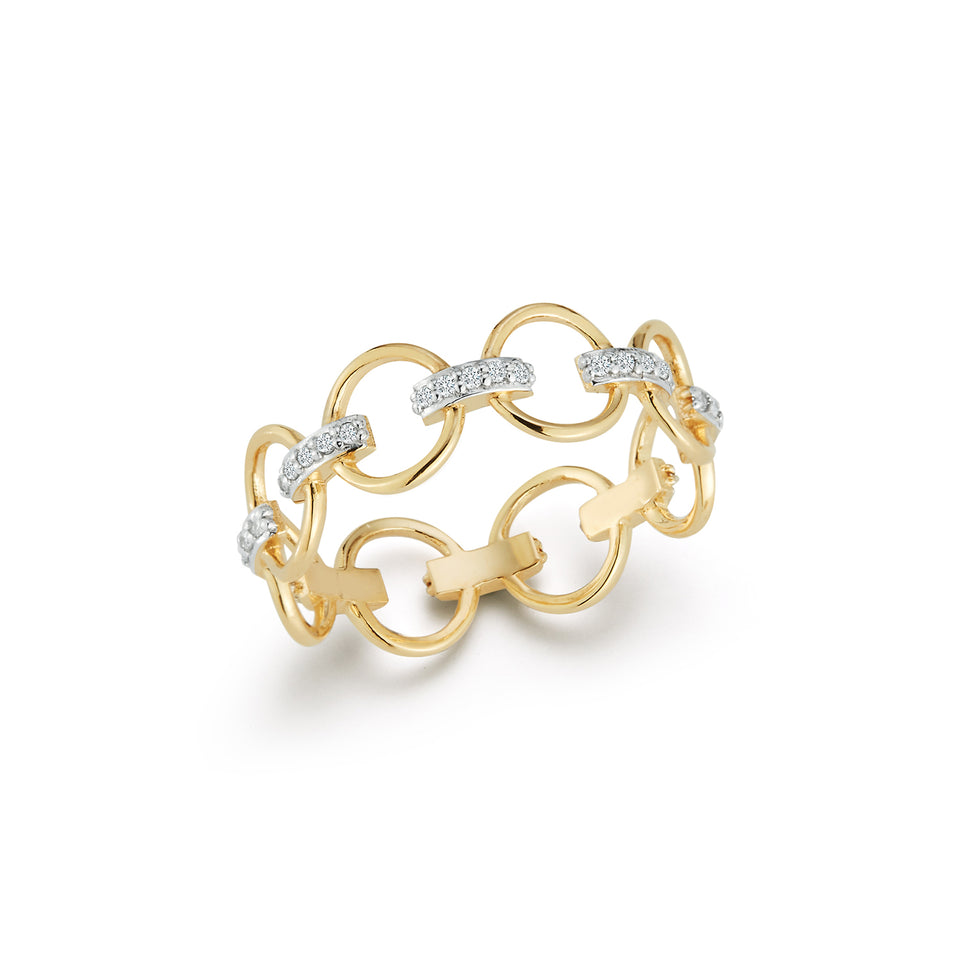 14kt Gold Connected Circle Ring