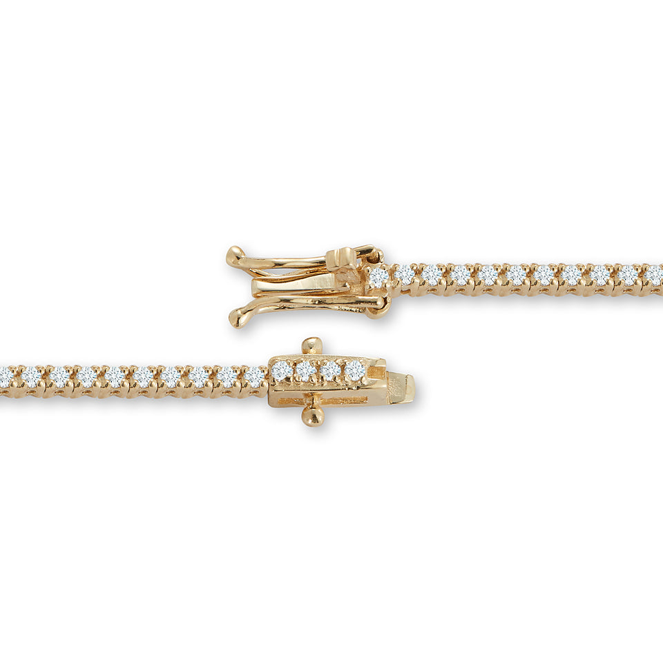14kt Gold White Diamond Tennis Bracelet
