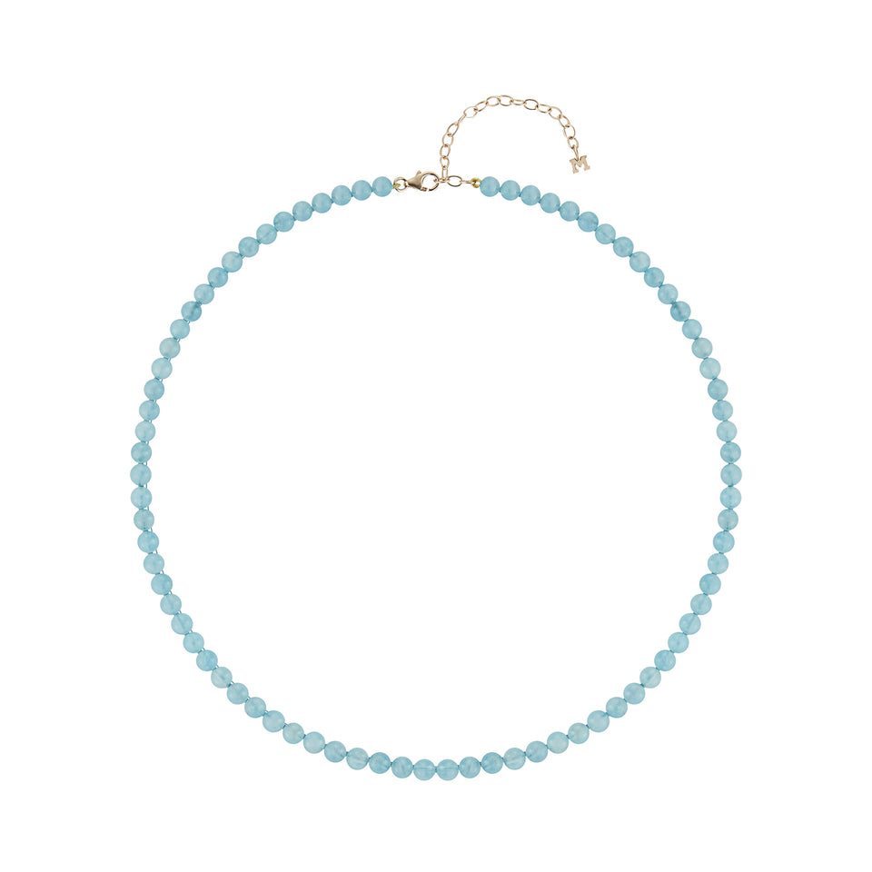 Aquamarine  Beaded Choker
