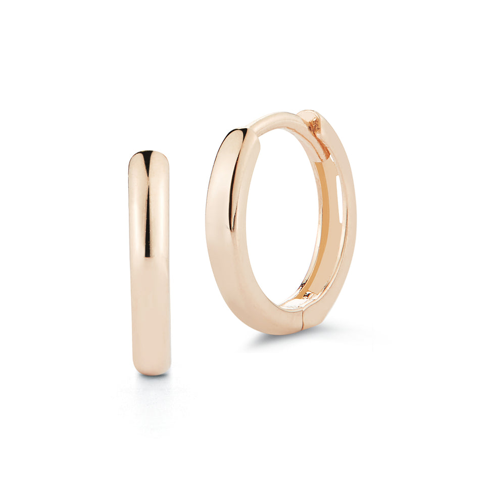 14kt Rose Gold Huggies