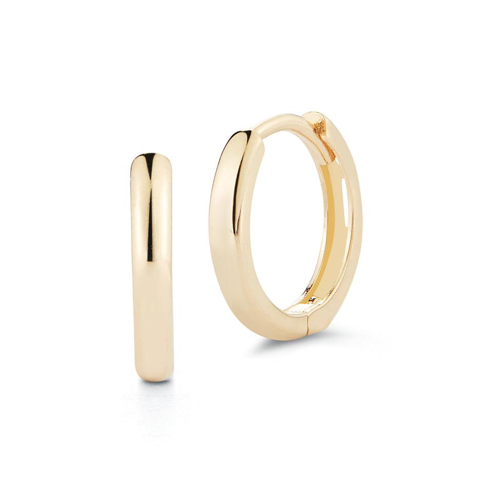14kt Yellow Gold Huggies