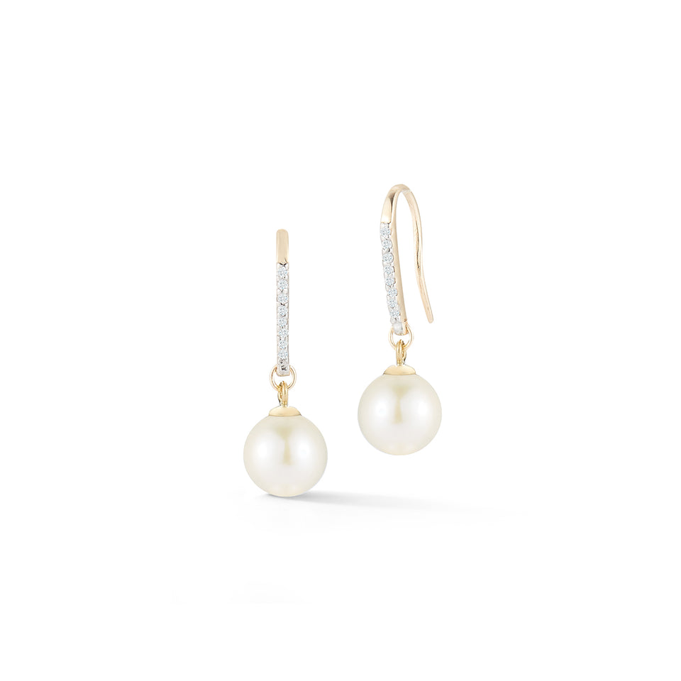 14kt Gold Single Pearl Drop Earrings