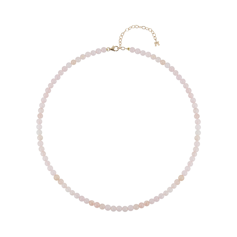 Rose Quartz  Beaded Choker