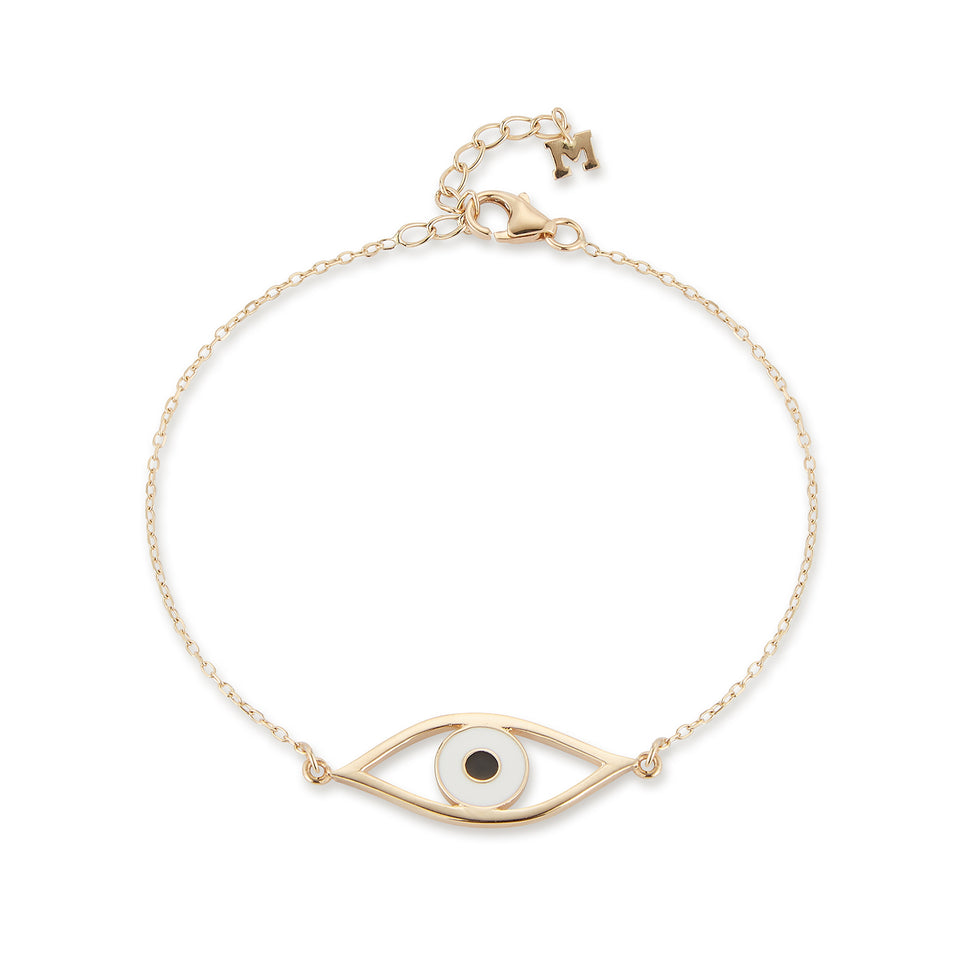 14kt Gold Eye of Protection Bracelet