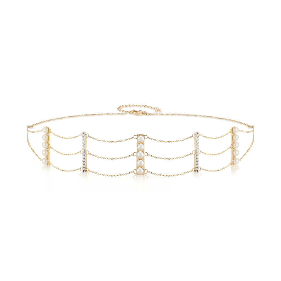 Diamond Huggies with Columbian Emerald Drops