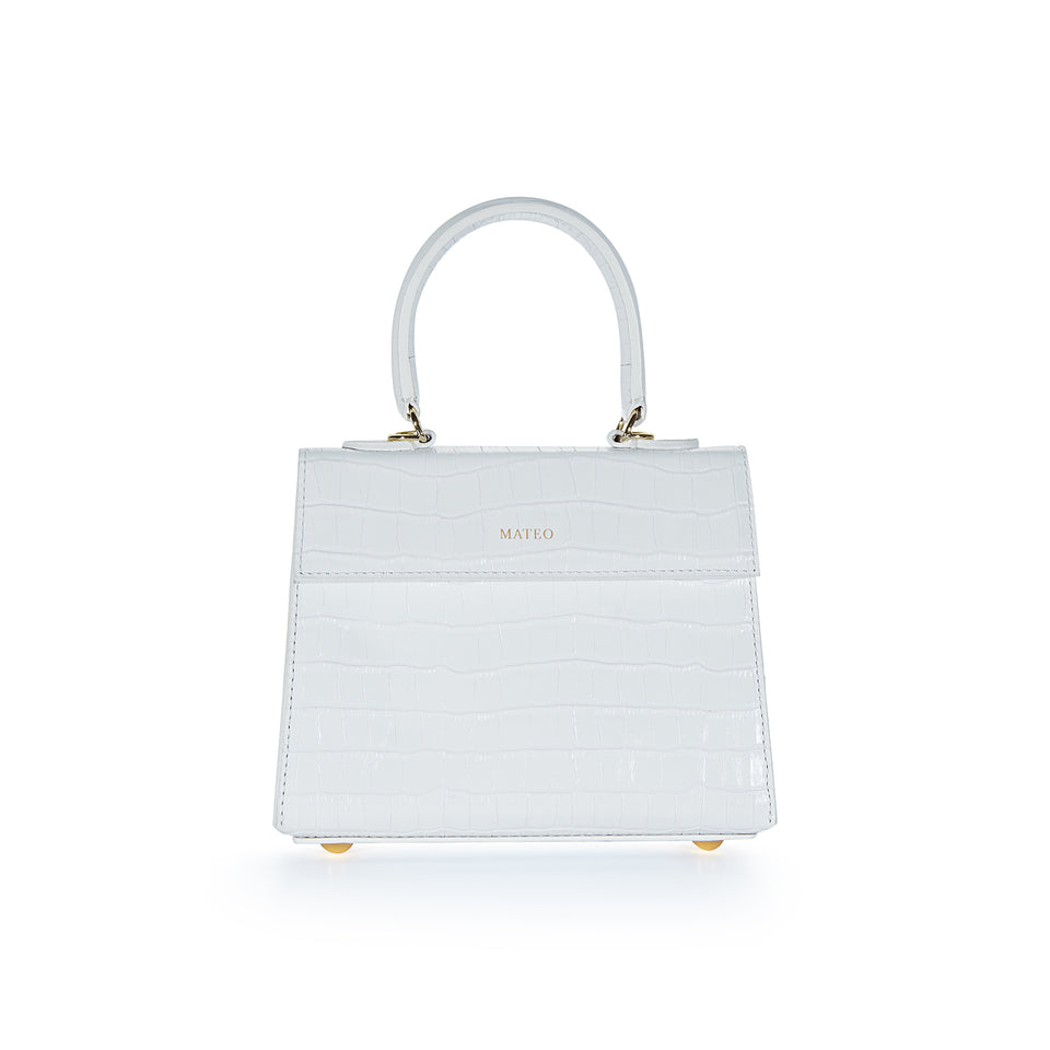 White Croc Elizabeth Bag
