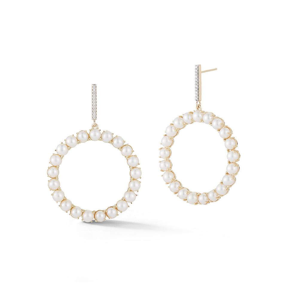 Ring of Pearl Drop Earring
