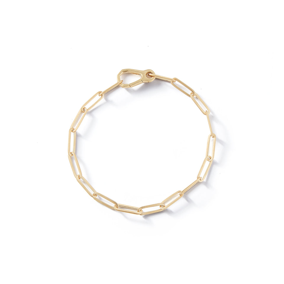 14kt Gold Long Link Chain Bracelet