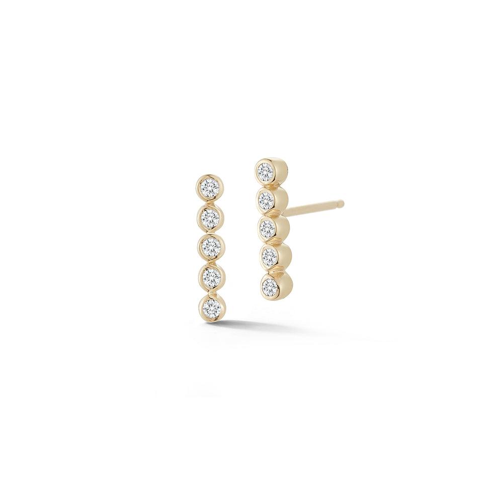 5 Point Diamond Bezel Studs