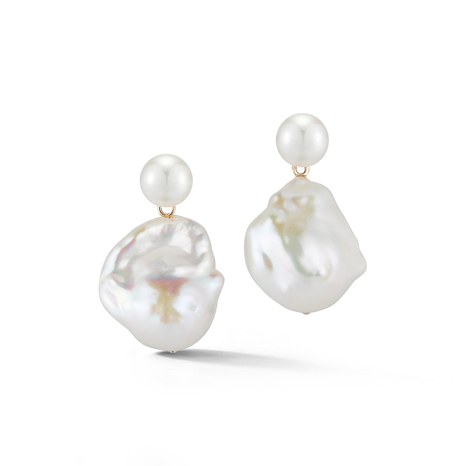 Duality Pearl Drop Earrings