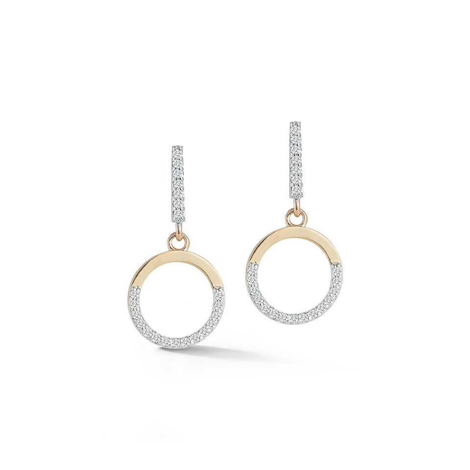 14kt Gold Small Halfmoon Drop Earring