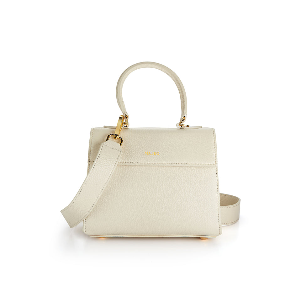 Elizabeth Bag Ivory Pebbled Leather