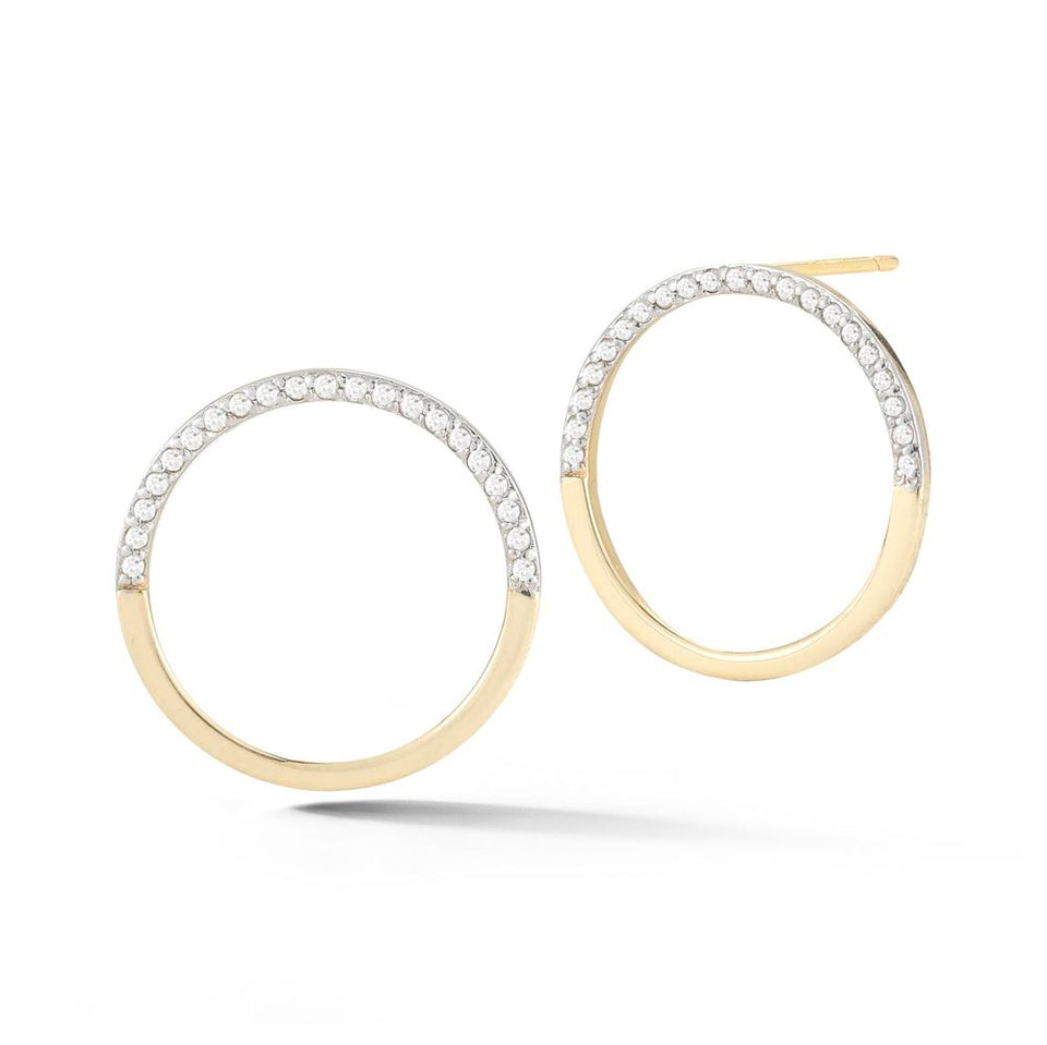 Small 14kt Gold Half Moon Hoops