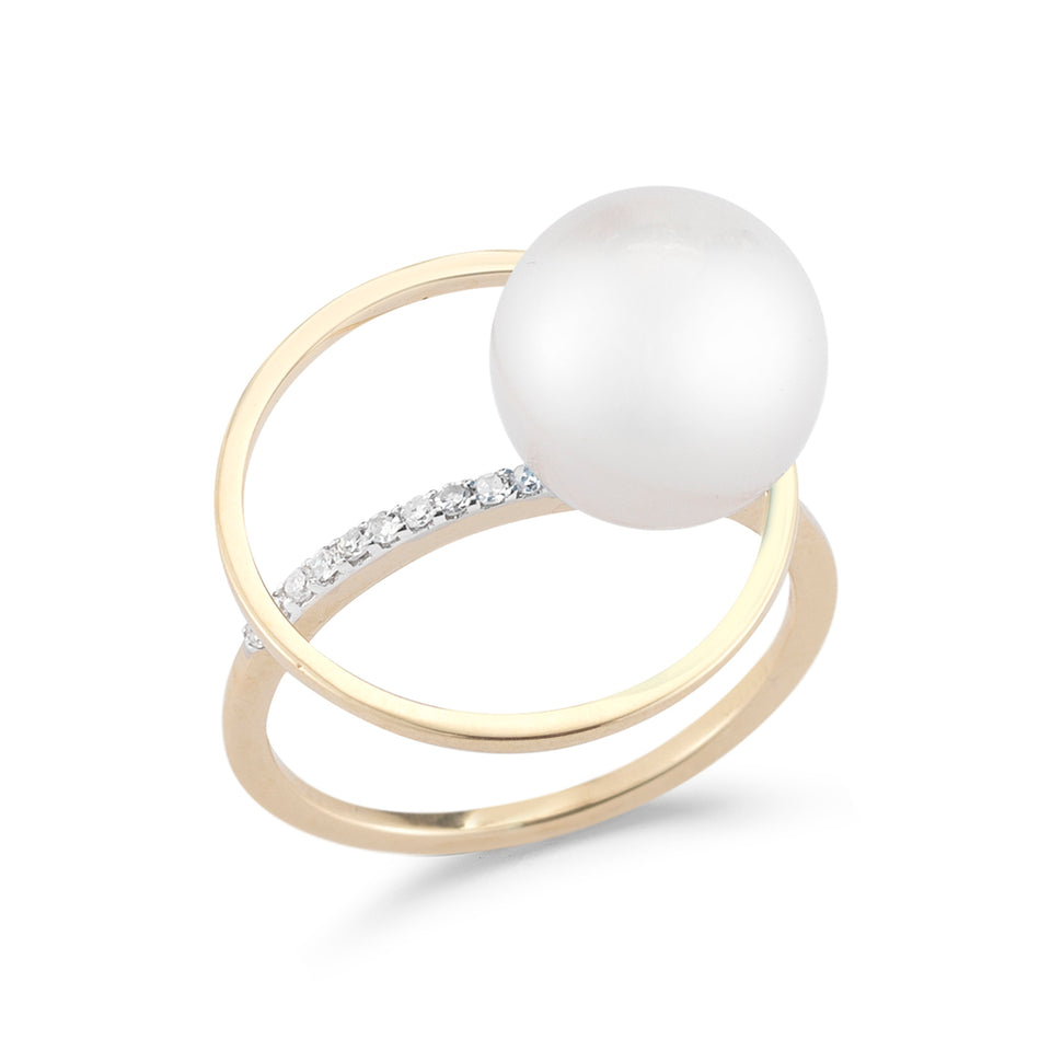 Pearl Orbit Ring