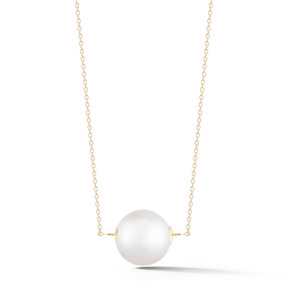 14kt Gold Pearl Suspended Necklace