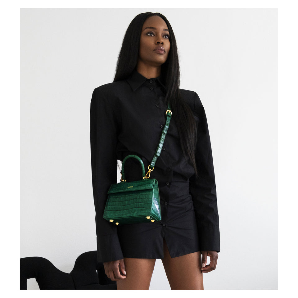 Emerald Croc Elizabeth Bag